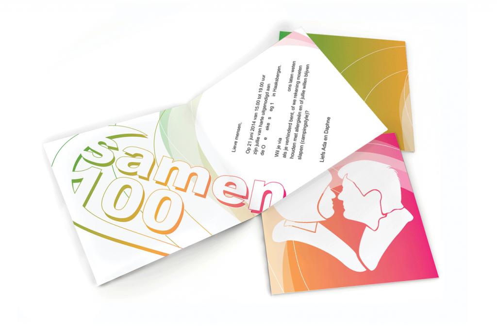 Uitnodiging samen 100