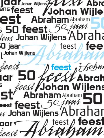 Uitnodiging 50 jaar Abraham