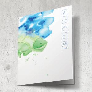 Ecoline - gefeliciteerd blauw/groen